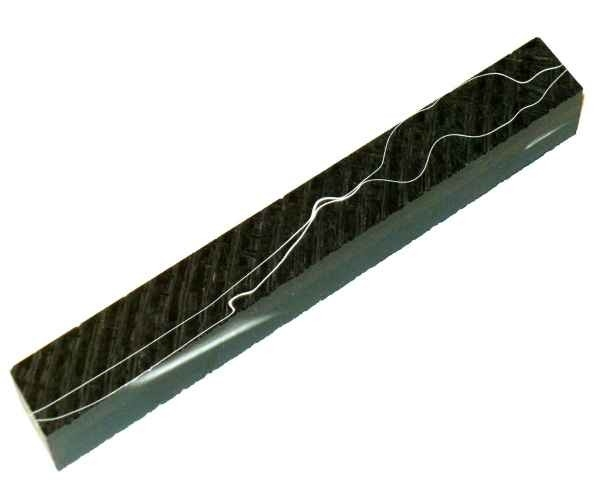 Pen Blank Acryl black with fine line ca. 16x16x150mm