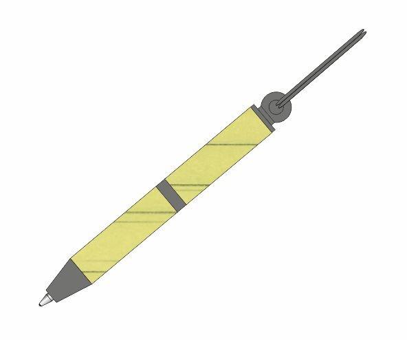 Schlüsselanhänger-Stift Gun Metal