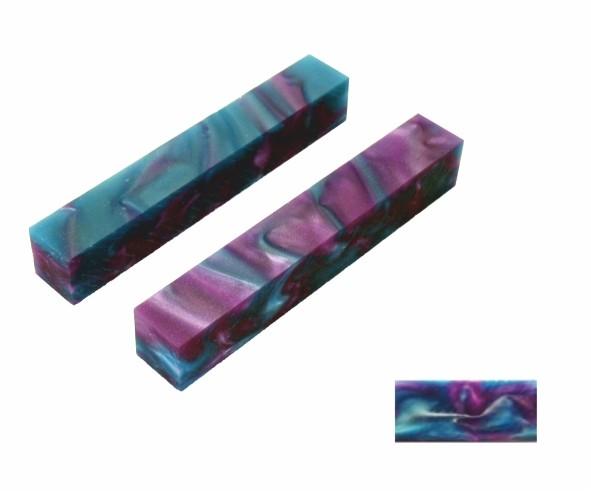 Pen Blank Acryl Ozean und pink ca. 19x19x130mm