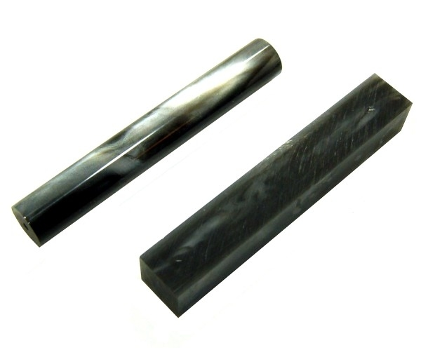 Pen Blank Acryl schwarz perlmut ca. 20x20x130mm