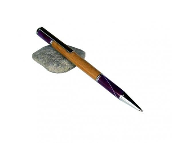 Slim Segment Pen Doppelring Chrom