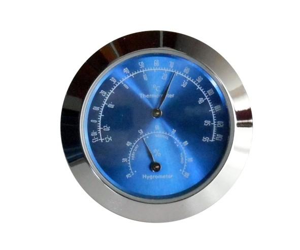 Einsteckthemo- Hyrometer Ø43mm Chrom