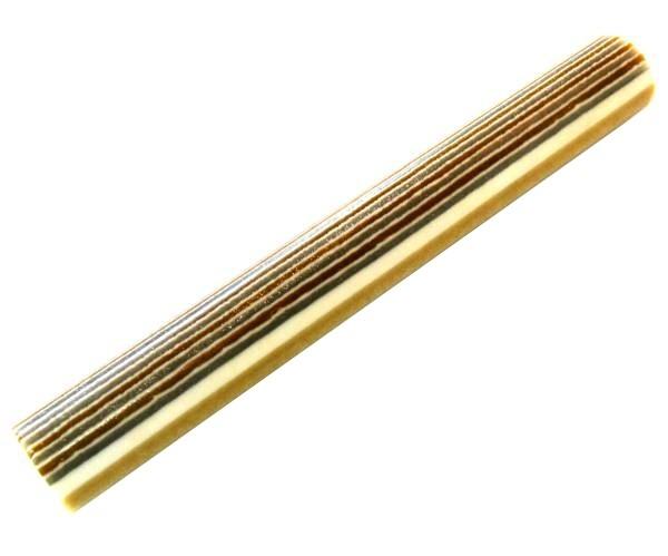 Polyester weiß gold silber rund ca. 150 x Ø20mm