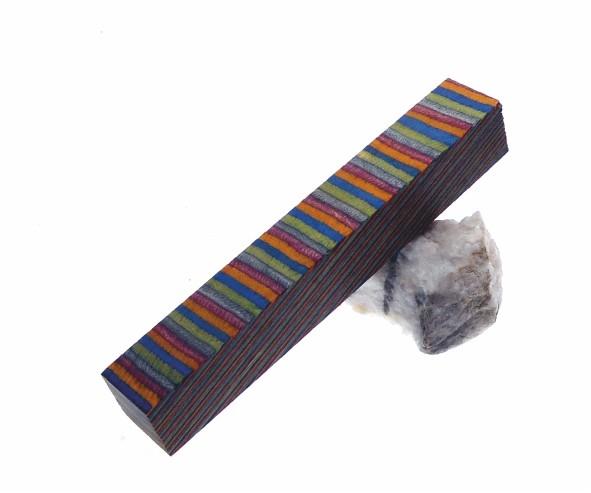 Blank Buntholz 5 Farben rt vio gn bl ge Maße ca. 20x20x130