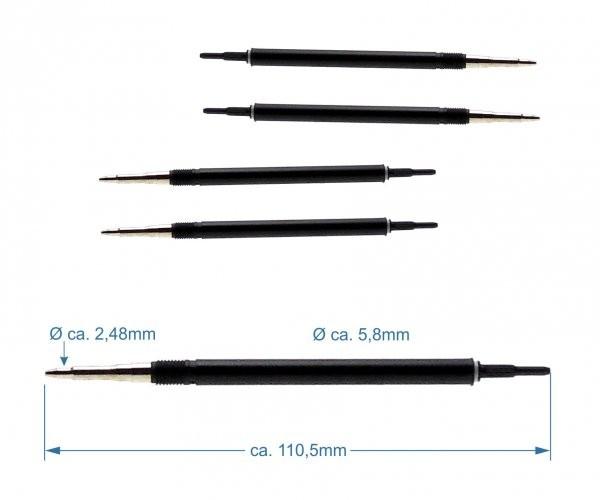 """Bleistiftmechanik I """"Schmidt® Style"""" für Ø 0,7mm Minen"""