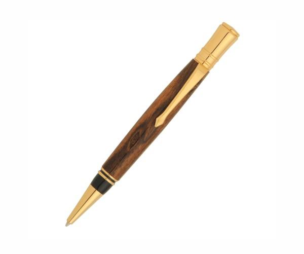 Earl Twist pen 24ct vergoldet