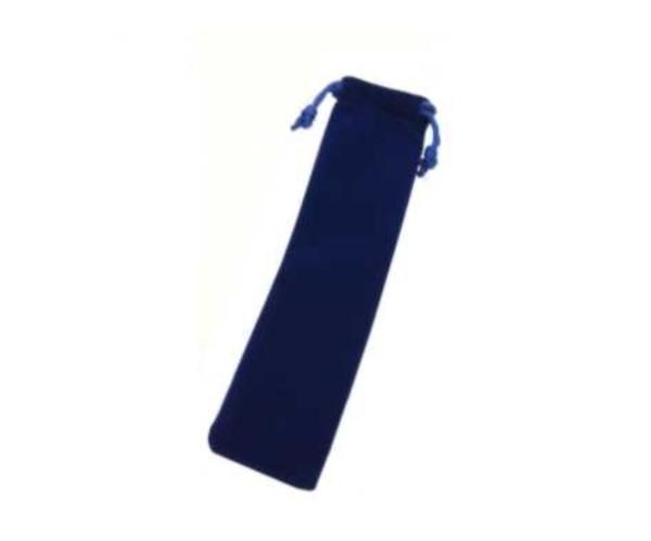 Samthülle blau mit Kordel