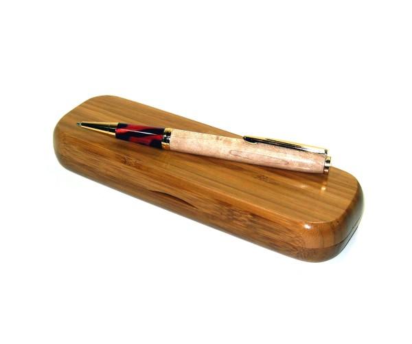Holz Etui Bambus für zwei Stifte