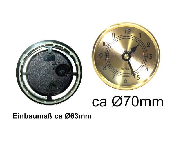 Einsteckuhr Ø70mm Gold