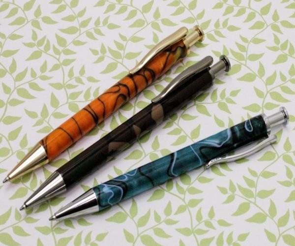 Click Pen Gold Titanium
