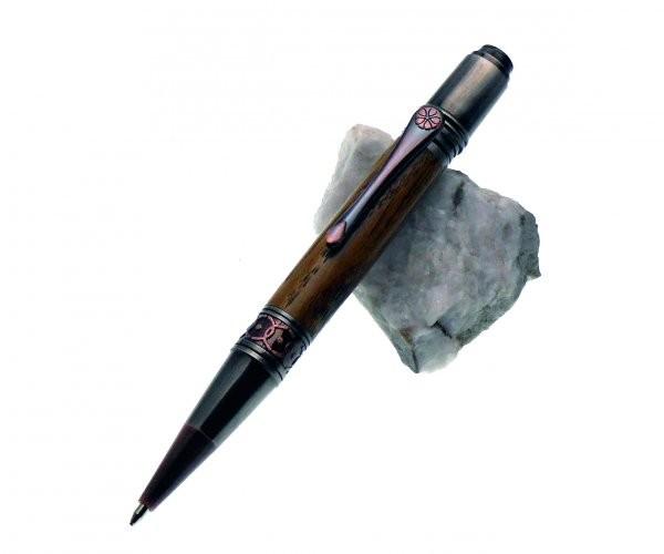 Antique Ornament Twist Pen Gun Polish und Kupfer Clip Kupfer