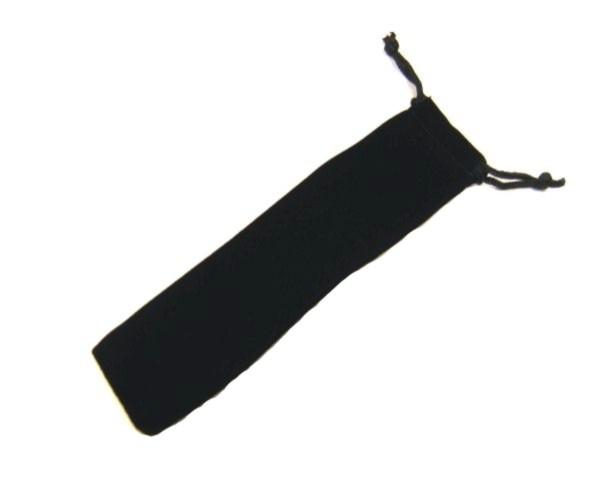 Samthülle schwarz mit Kordel