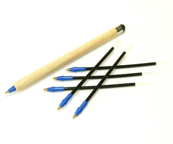 Steckminen 102mm Holzkuli blau 5er Pack