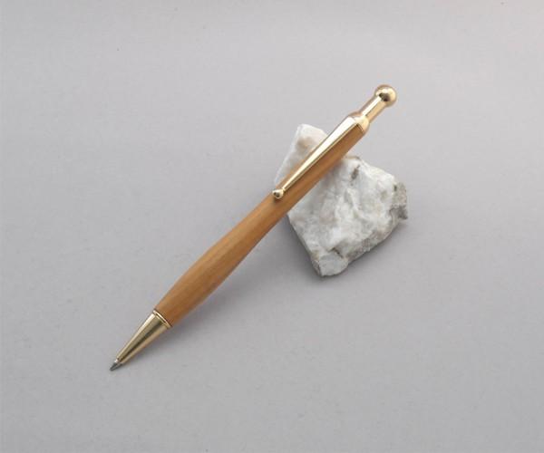 Druckkugelschreiber Kugel-Clip Gold (24ct vergoldet)