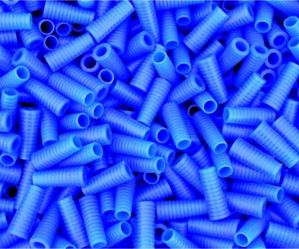 Griffstück blau aus Weichgummi 10er Pack