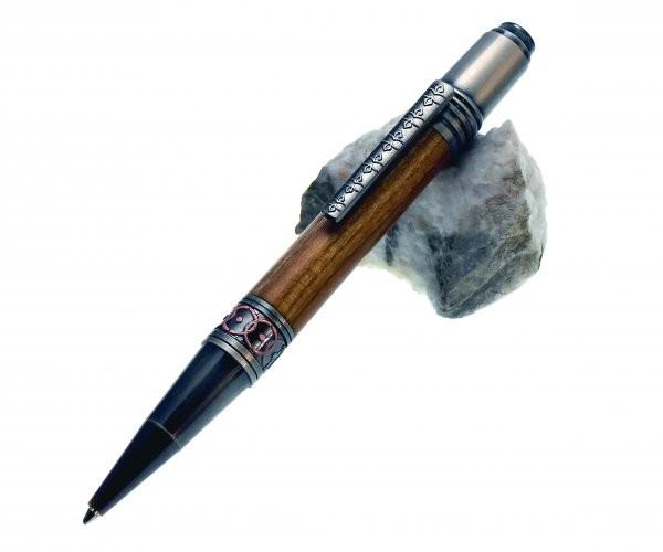 Antique Ornament Twist Pen Gun Polish und Kupfer gerader Clip