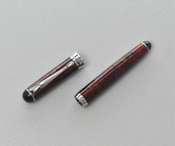 Gehäuse (leer) Jinhao X750 Chrom/Acryl Rot gemustert