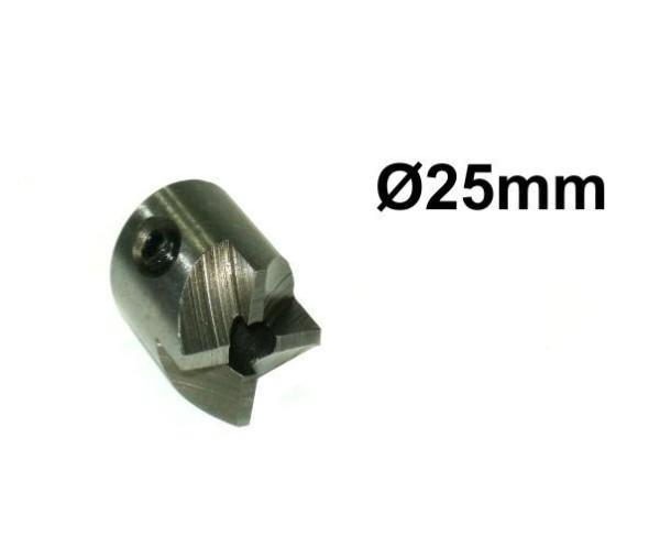 Stirnseitenfräser 4 Schneiden-Kopf Ø25mm mit Präzisionsanschliff